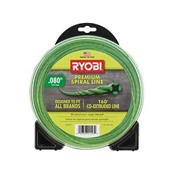RYOBI 0.080 inch x 160 ft. Premium Spiral Cordless and Gas Trimmer Line