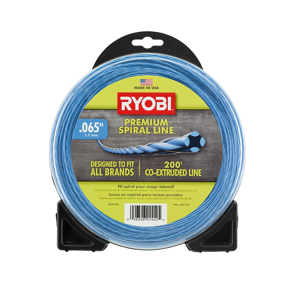 0.065-inch x 200 ft. Heavy-Duty Spiral Corded and Cordless Trimmer Line