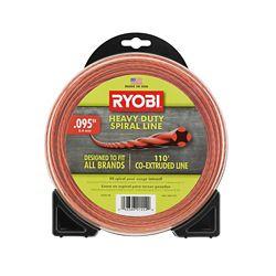RYOBI 0.095 inch x 110 ft. Heavy-Duty Spiral Gas Trimmer Line