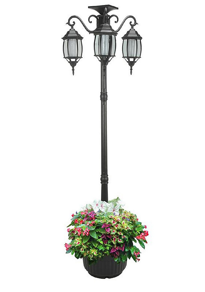 Sun Ray Madison Solar Lamp Post And Planter The Home