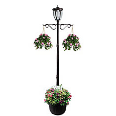Kenwick Solar Lamp Post and Planter - Bronze