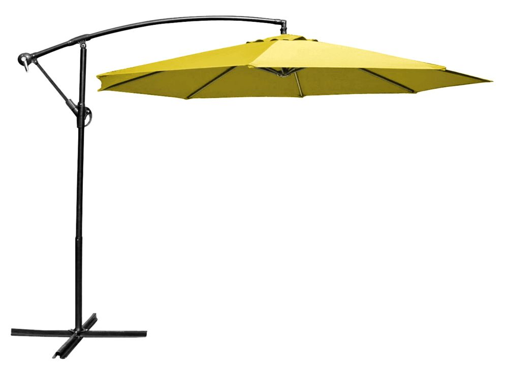 Henryka 10 ft. Cantilever Umbrella Yellow | The Home Depot