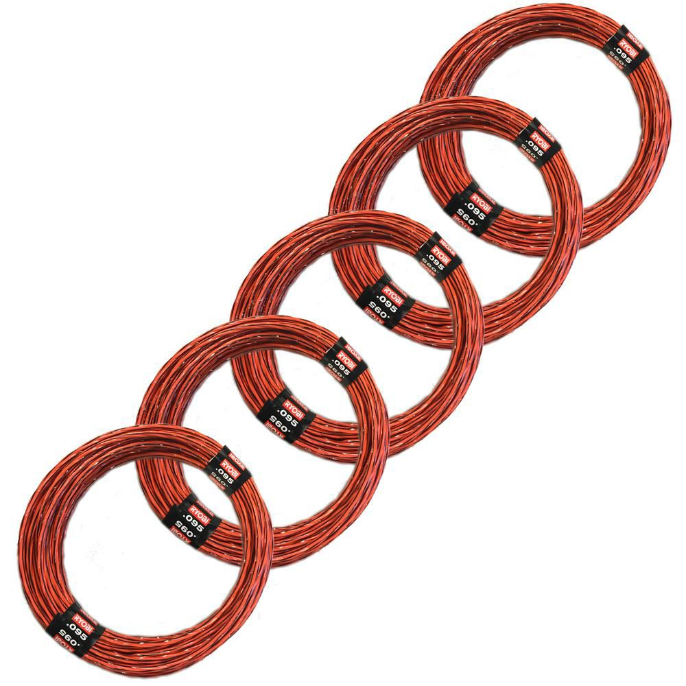 0.095-Inch D x 192-Inch H Pre-Cut Spiral Line (Pack of 5)