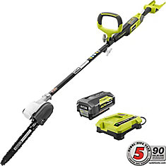 10-Inch 40V Lithium-Ion Cordless Pole Saw w/ (1) 2.6 Ah Battery and Charger Included