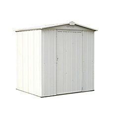 EZEE Shed Steel Storage 6 x 5 ft. Galvanized Low Gable Cream