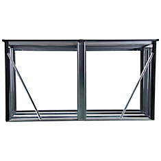 Firewood Rack 8 x 2 ft. Anthracite