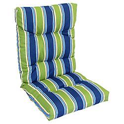 Bozanto Inc. High Back Cushion green/blue stripe