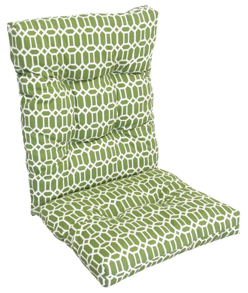 Bozanto Inc. Highback Cushion light green geo