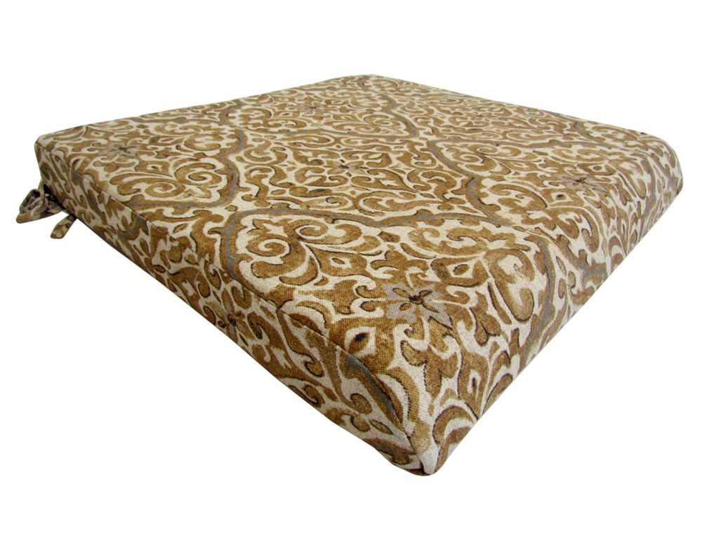 Bozanto Inc. Seat Cushion brown floral