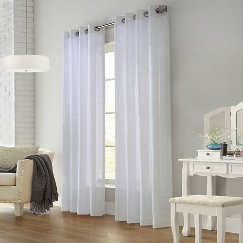 Home Decorators Collection Kali Sheer Grommet Curtain 52 inches width X 95 inches length, White