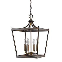 Acclaim Kennedy 4-Light 60W Oil Rubbed Bronze Integrated LED Chandelier