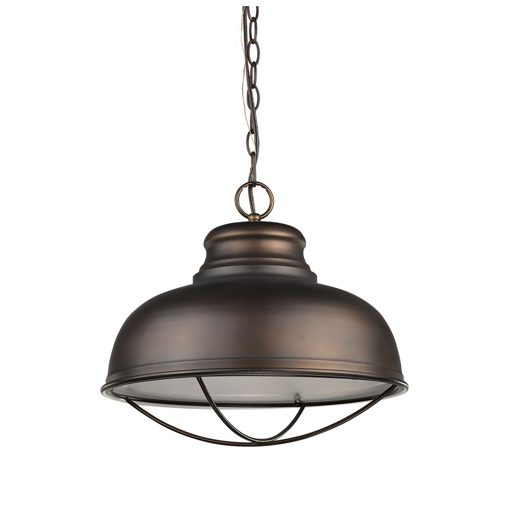 Acclaim Ansen 1-Light Pendant with Metal Shade In Oil Rubbed Bronze