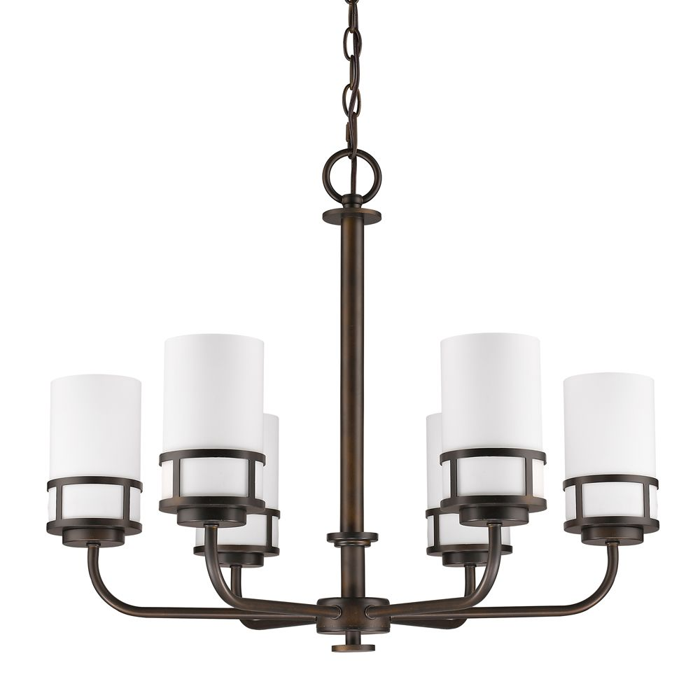 Acclaim Alexis 6-Light Chandelier with Glass Shades In Oil Rubbed Bronze