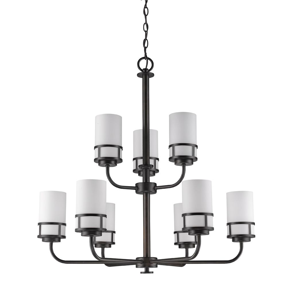 Acclaim Alexis 9-Light Chandelier with Glass Shades In Oil Rubbed Bronze