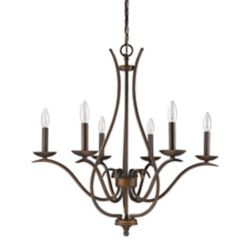 Acclaim Genevieve 6-Light Chandelier In Oil Rubbed Bronze