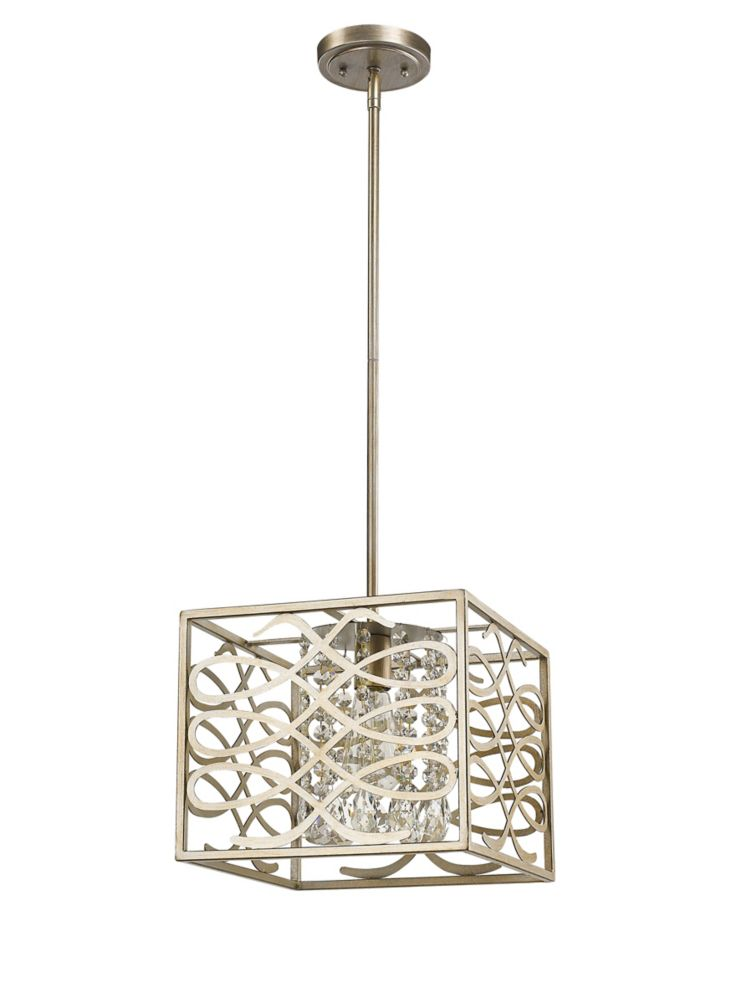 Acclaim Brax 1-Light Pendant with K9 Crystal In Washed Gold