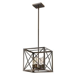 Acclaim Brooklyn 4-Light geometric Pendant In Oil Rubbed Bronze