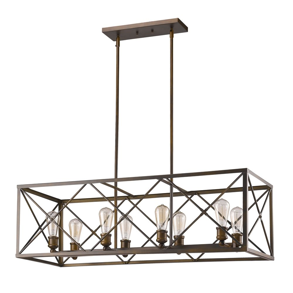 Acclaim brooklyn 8 light large geometric pendant in oil