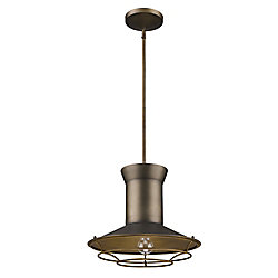 Acclaim Newport 1-Light Pendant W/Louver In Tin Coated Finish