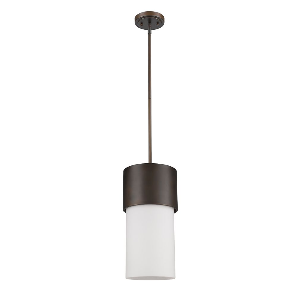 Acclaim Midtown 1-Light Pendant with Glass Shade In Oil Rubbed Bronze