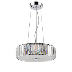 Acclaim Erin LED Pendant surrounded with Shade of K9 Crystal Disc shade in Polished Nickel