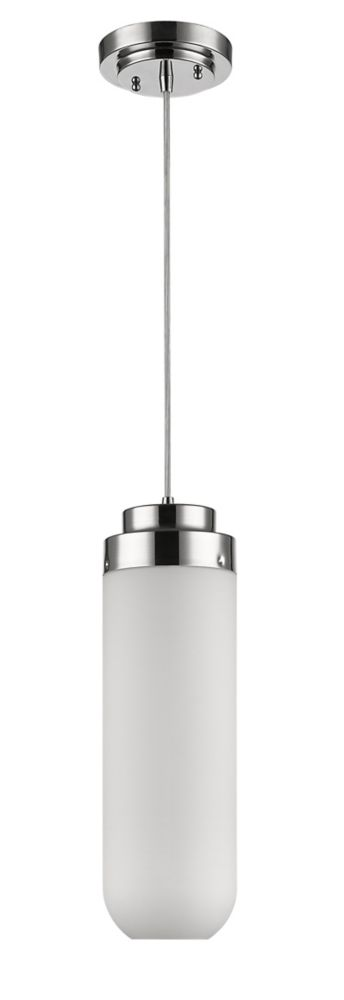 Acclaim Solar 1-Light Pendant with 18.5 inch long Glass Shade In Polished Nickel