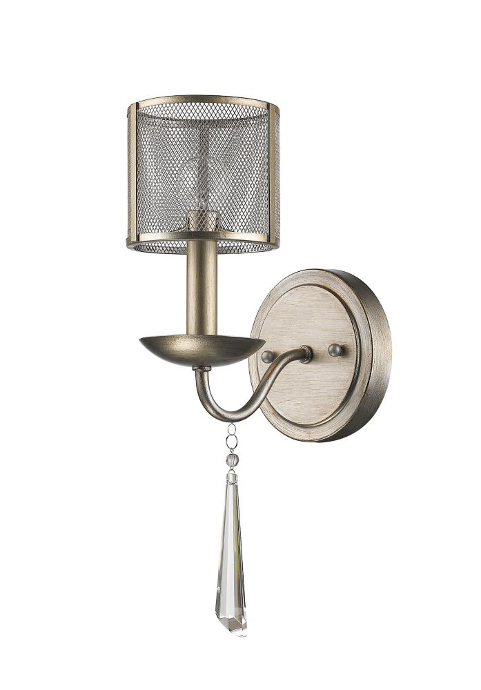 Acclaim Rita 1-Light Sconce K9 Crystals & Metal Shade In Washed Gold