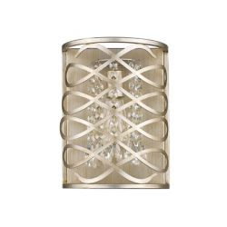 Acclaim Brax 1-Light Sconce with K9 Crystal beads In Washed Gold