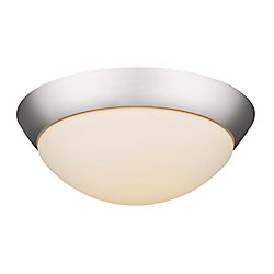 Acclaim Indoor LED 1,440-lumen 18 watt 13 inch Flushmount in Satin Nickel with opal glass