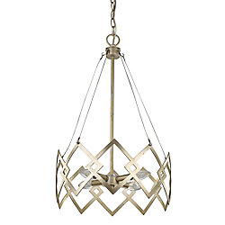 Acclaim Nora 4-Light 60W Washed Gold Integrated LED Chandelier