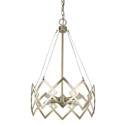 Acclaim Nora 4-Light Washed Gold Chandelier