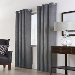 HDC Navar 100% Blackout Grommet Curtain 54 inches width X 63 inches length, Dark Grey