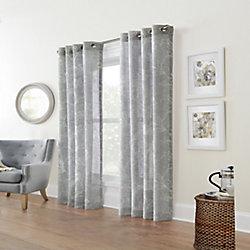 Home Decorators Collection Augusta Faux Linen Sheer Grommet Curtain 52 x 108 colour Silver