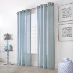 HDC Wickham Light Filtering Grommet Curtain 52 inches width X 108 inches length, Blue