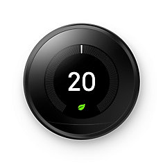 3rd Generation Smart Learning Wi-Fi Programmable Thermostat in Matte Black