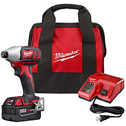 M18 18V Lithium-Ion Cordless 1/4-Inch Hex Impact Driver Kit with One 3.0Ah Battery, Charger & Bag