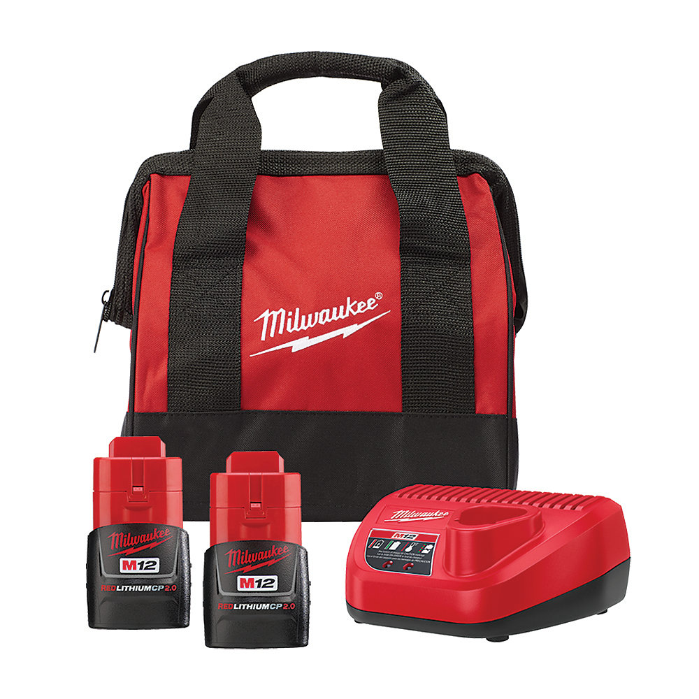 M12 12V Li-Ion Starter Kit with (1) 3.0 Ah and (1) 1.5 Ah Battery Pack & Charger