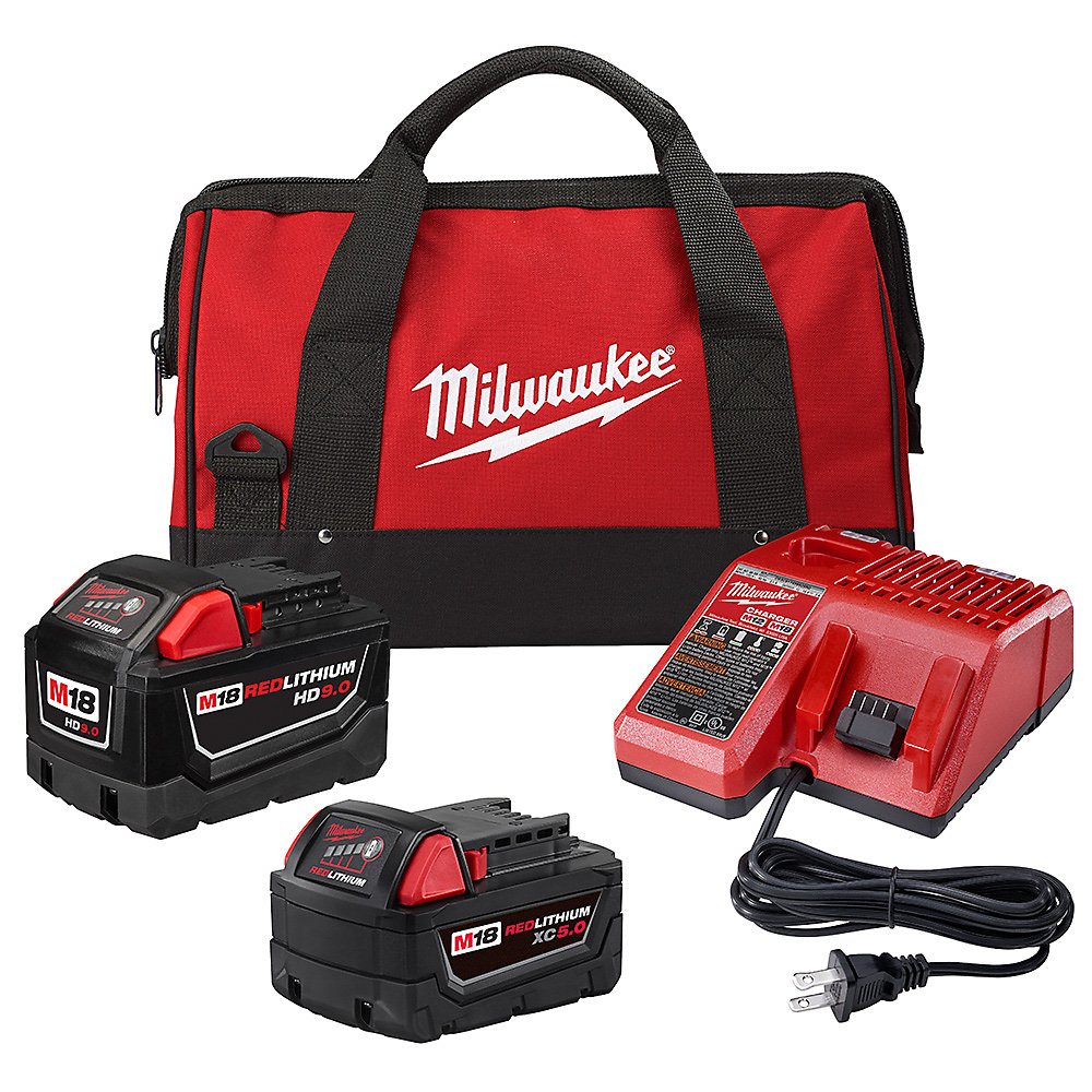 M18 18V Li-Ion Starter Kit with (1) 9.0 Ah Battery and (1) 5.0 Ah Battery and Charger