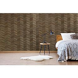 Expression Chevron Grey 15-inch x 55-inch Wall Panel (22.8 sq. ft./box)
