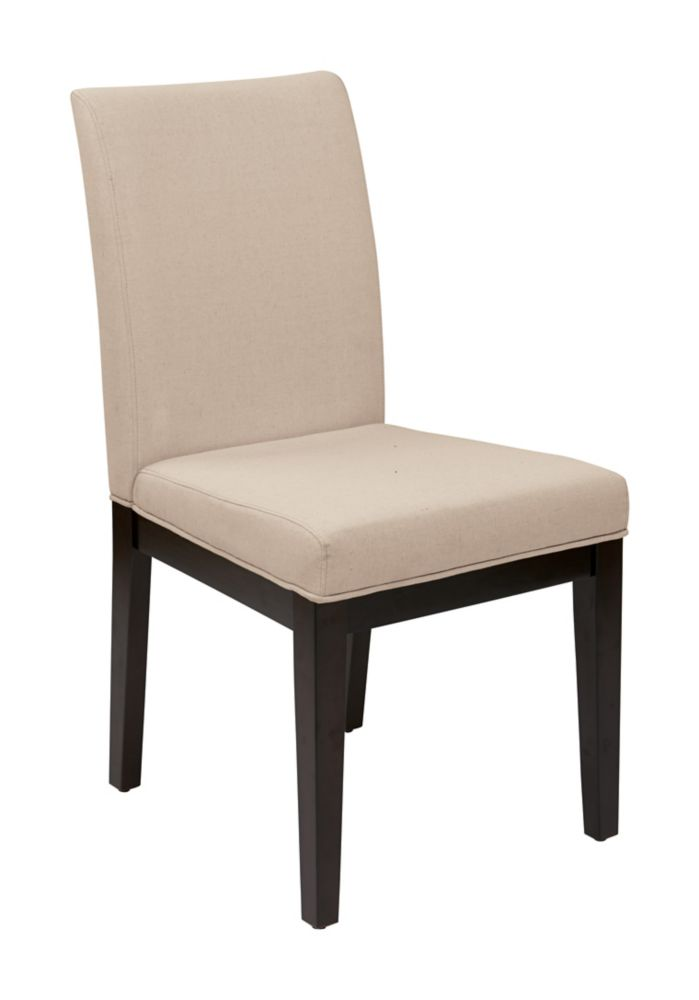 Ave Six Dakota Parsons Chair in Linen Fabric