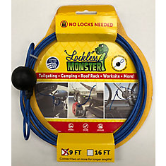 anti-theft cable -No Locks needed 9 FT