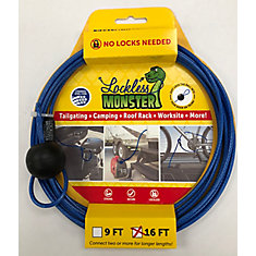 anti-theft cable -No Locks needed 16 FT