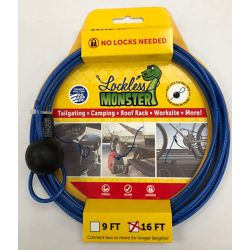 Lockless Monster Anti Theft Cable No Locks Needed 16 Ft