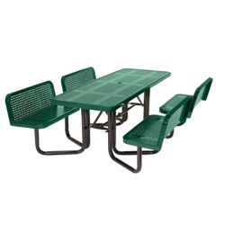 Suncast Split Bench Perforated Green Picnic Table
