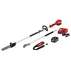 M18 FUEL 18V Lithium-Ion Brushless Cordless 10-Inch Pole Saw Kit w/Attachment Capability and 9.0 Ah Battery