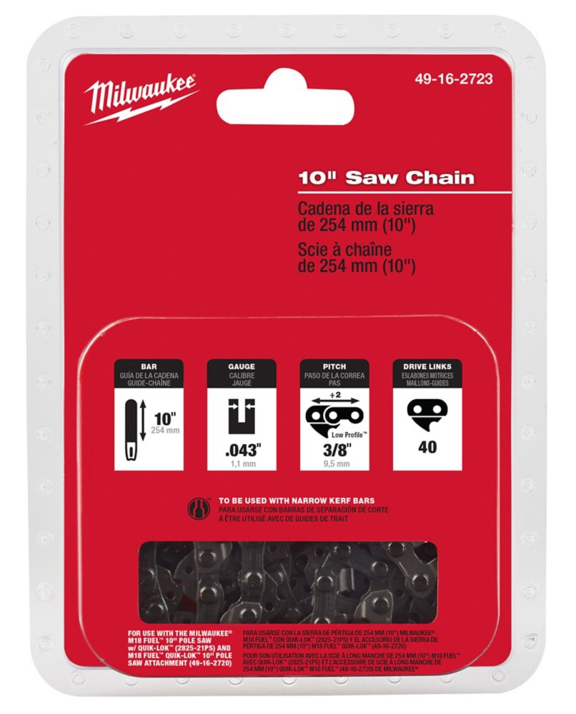 Milwaukee Tool 10-Inch Saw Chain (For 2825-21PS and 49-16-2720)
