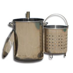 King Kooker Stainless Steel Skewer Pot with Lid
