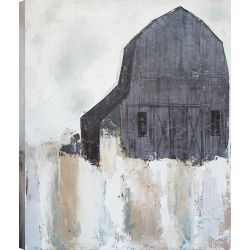 ArtMaison Canada 50X60 Indigo Barn Giclee Gallery Wrapped Canvas Wall Art Modern Décor for Home, Office Ready to Hang
