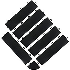 Black Floor Edge Trim - Female (6 Pack + 1 Corner)