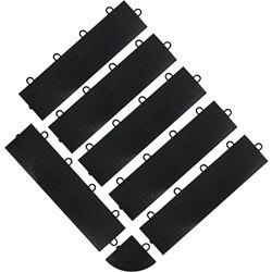 Gladiator Black Floor Edge Trim - Female (6-Pack + 1 Corner)